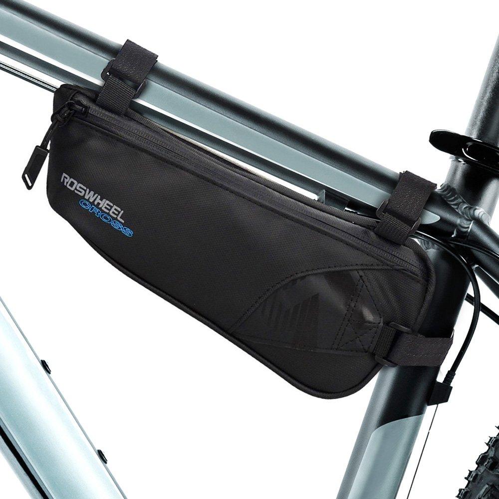 Bike Bag, Intsun Bicycle Frame Bag Nylon Water Resistant Triangle Bag Bike Storage Bag for Cycling, Mountain Bike, Road Bicycle