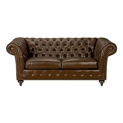 Brilliant Amazon Com Ethan Allen Mansfield Leather Sofa 77 Sofa Inzonedesignstudio Interior Chair Design Inzonedesignstudiocom