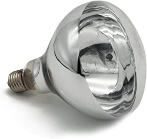 Fengrun Lighting 150 Watt / 250 Watt, Hard Glass(Water Proof), R125 Clear, Infrared Heating Bulb, for Swine & Poultry