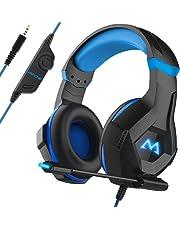 Mpow EG9 Auriculares Gaming PS4,Luz RGB, Sonido Envolvente, Auriculares con Micrófono de Cancelación de Ruido, para PS4,PC,Xbox One,para Nintendo Switch, iPad, Móviles, Cable 2.2m Diadema Ajustable