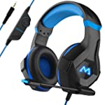 Mpow EG9 Gaming Headset, RGB Light, 3D Surround Sound, Lightweight Computer PS4 Headset with Microphone Noise Canceling...