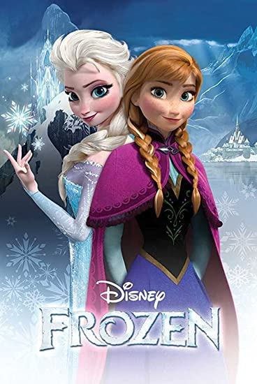 Empire poster di anna ed elsa dal cartone animato frozen con