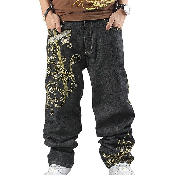 Dexinx Uomo Ragazzi Elegante Rigonfiamento Ricamo Stampa Dancing Jeans  Primavera Morbido Hip Hop Denim Pantaloni  Amazon.it  Abbigliamento 0ef404394a4e