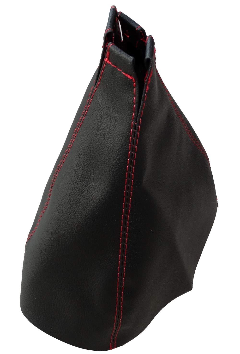 marco de pl/ástico con costuras blancas Funda para palanca de cambios de piel negra