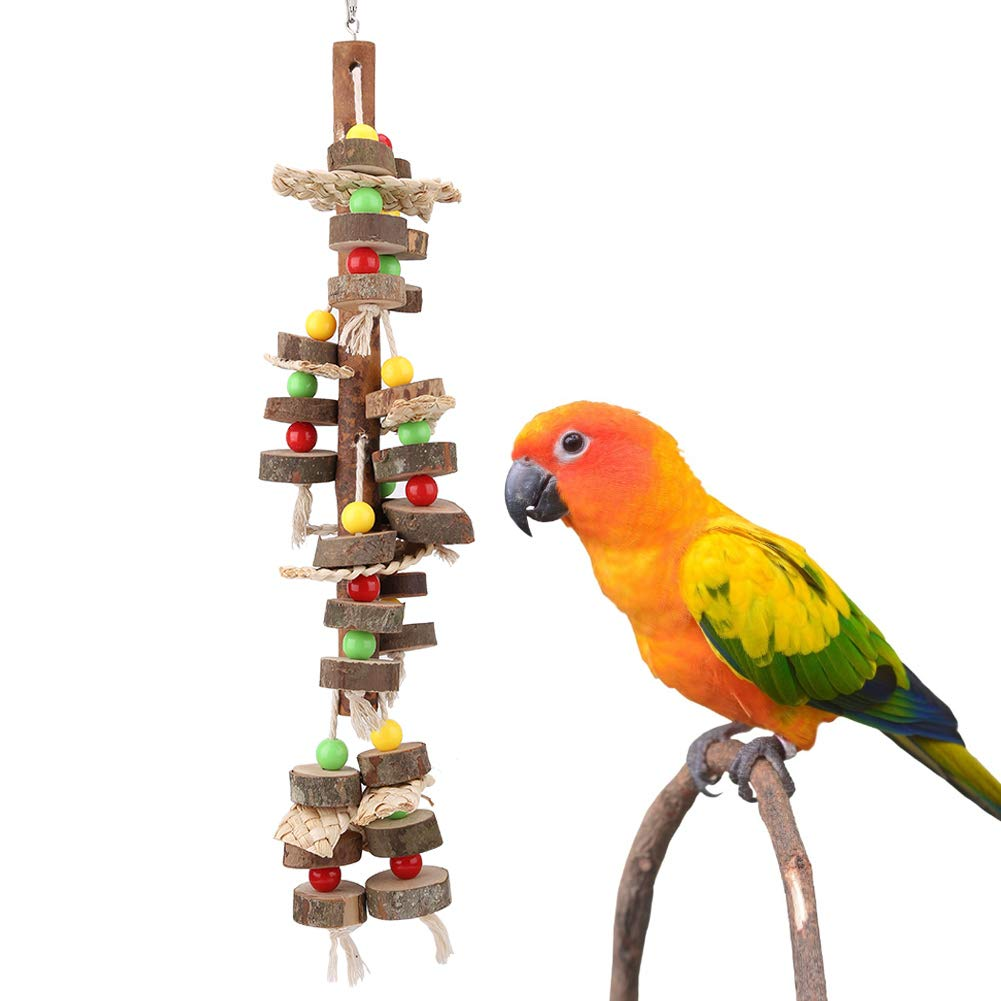 Pet Bird Chewing Toys, Knots Block Bird Toys for Parrot Paradise Toys Chew Bird Block Toys by Naroote
