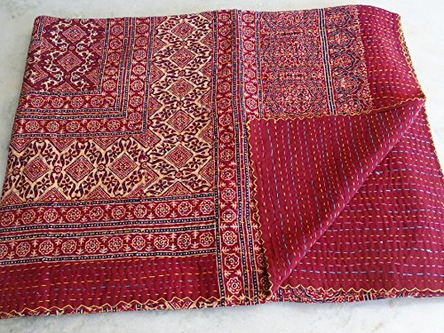 Tribal Asian Textiles Handmade Hand Block Printed Kantha ...