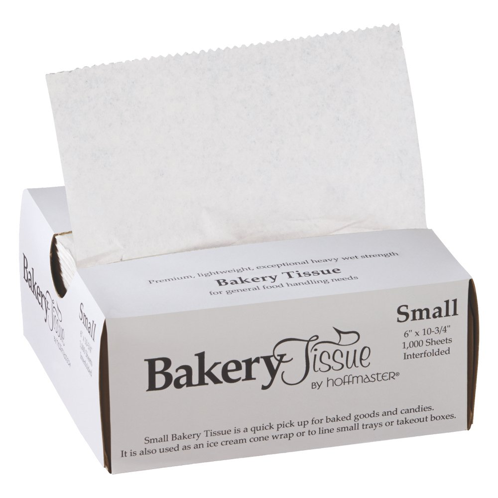 "Hoffmaster 110850 Waxed Bakery Tissue, White, Small 6"" x 10-3/4"" 1000count (Pack of 10)"