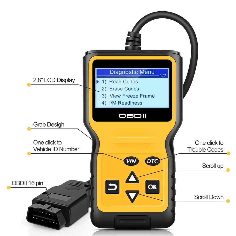 Panlong OBDII OBD2 Scanner Check Engine Light (MIL) Car Diagnostic Code Reader Scan Tool by Panlong (Image #6)