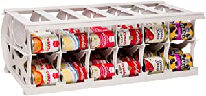 Shelf Reliance Pantry Can Organizers - Customizable Can Lengths - First In First Out Rotation - Designed for Canned Goods for Cupboard, Pantry and Cabinet - Food Storage - Made in USA - Up to 60 Cans