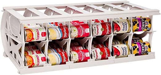 organizador de almacenamiento Neo/® Dispensador de latas de comida para armario y estante de nevera