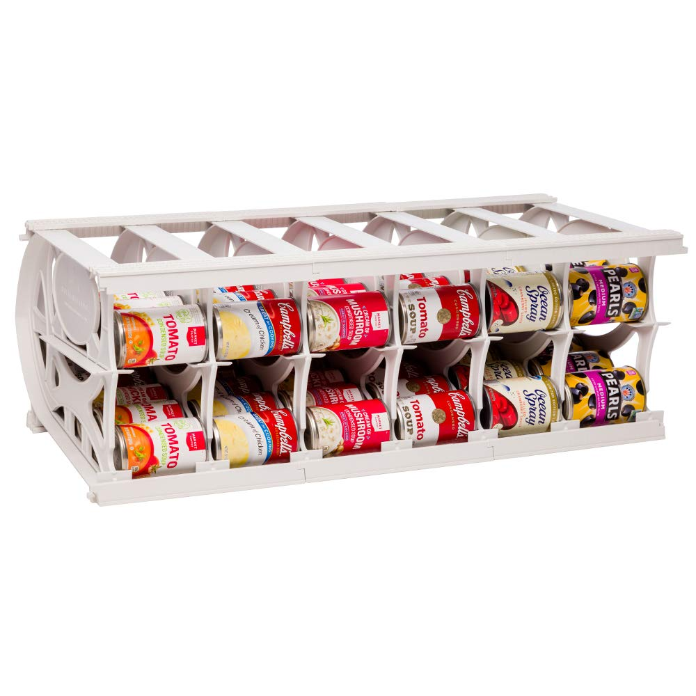 Shelf Reliance Pantry Can Organizers - Customizable Can Lengths - First In First Out Rotation - Designed for Canned Goods for Cupboard, Pantry and Cabinet - Food Storage - Made in USA - Up to 60 Cans by Shelf Reliance