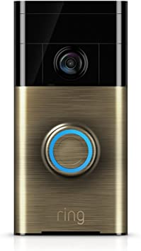 Ring Wi-Fi Enabled Video Doorbell Door Chimes & Bells at amazon