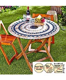 Mosaic Custom Fit Table Covers (Blue Mosaic )
