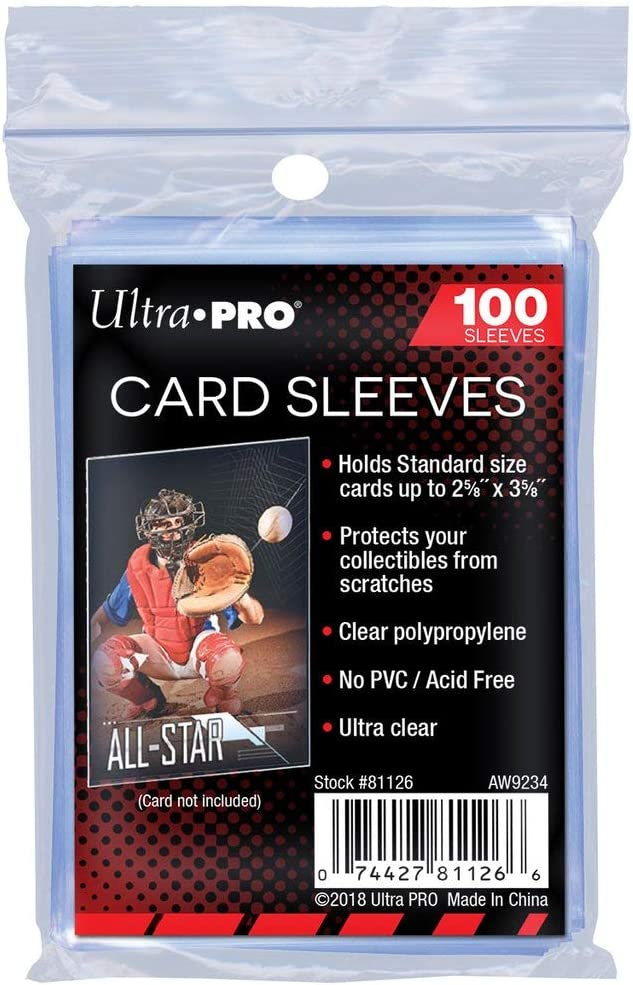 "Ultra Pro Soft Card Sleeves 2-5/8"" X 3-5/8"", Ultra Clear (100Count): Toys & Games"