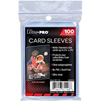 """Ultra Pro Soft Card Sleeves 2-5/8"""" X 3-5/8"""", Ultra Clear (100Count)"""