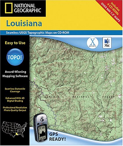 National Geographic TOPO! Map of Louisana (Mac)