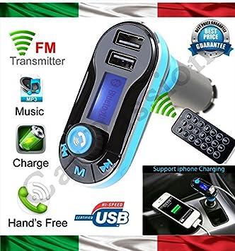 Kit Manos Libres Bluetooth Coche Móvil Smartphone Reproductor de ...