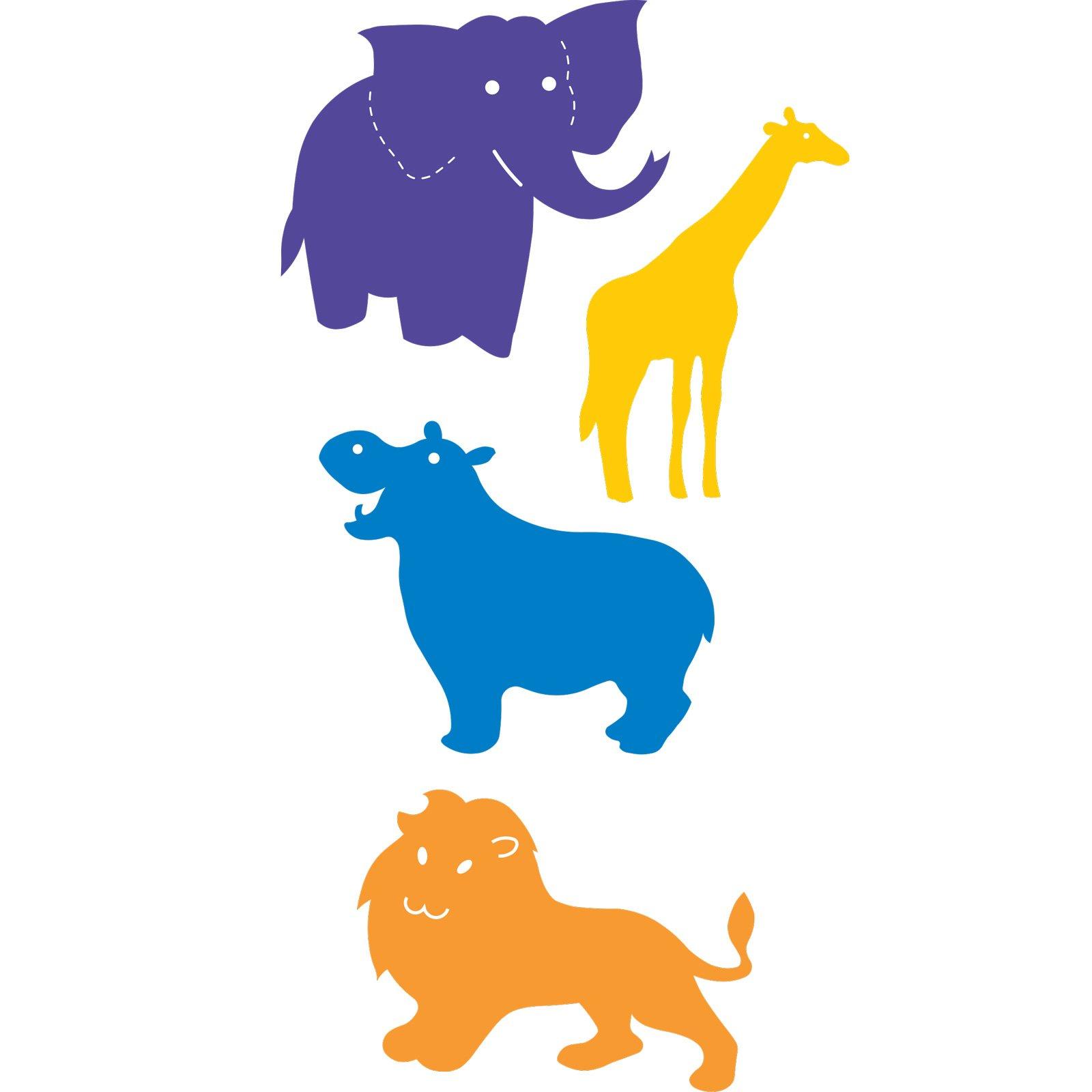 Ellison SureCut Die Set, Zoo Animals Basic Beginnings, 4 Pack, Large