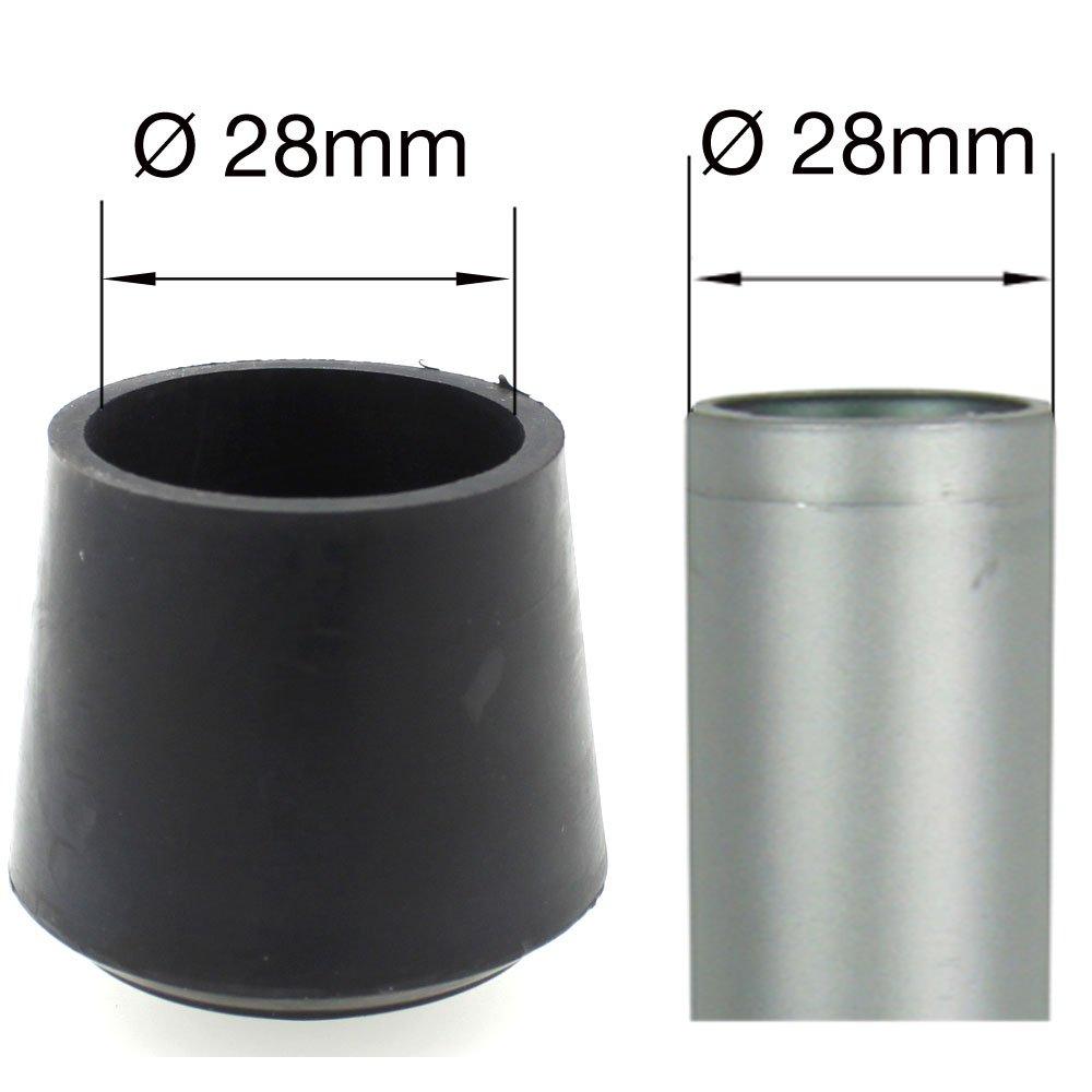 16 St/ück 14 mm in vielen verschiedenen Gr/ö/ßen und Farben Gummi-Schutzkappen f/ür M/öbel Lifeswonderful/® Schwarz