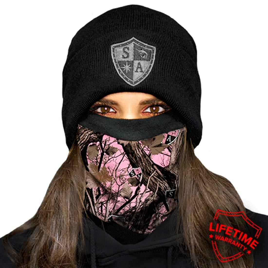 Salt Armour SA Forest Camo Skull Face Shield Sun Mask Neck Gaiter *USA*