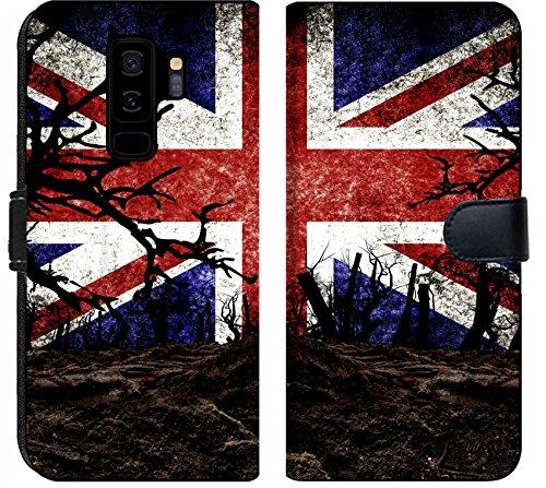 Luxlady Samsung Galaxy S9 Plus Flip Fabric Wallet Case Image ID 31510476 Halloween Festival and United Kingdom Flag Background