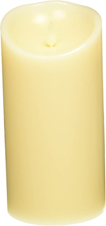 "Wax Flameless Realistic Flicker 7/"" 18cm Vanilla **NEW** LUMINARA LED CANDLE"