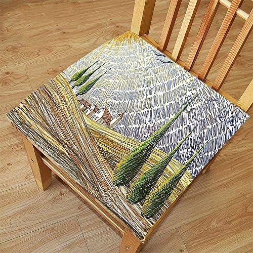 Nalahome Set of 2 Waterproof Cozy Seat Protector Cushion Tuscan Decor Van Gogh Style Italian Valley Rural Fields With European Scenery Digital Painting Artsy Print Multi Printing Size - Van Sunglasses Noten Dries