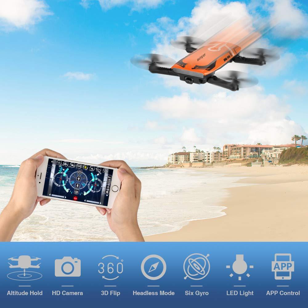 HELIFAR H818 Drone con Camara HD,Mini Dron Plegable WiFi FPV, una ...