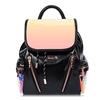 1730cb5d7c07 RenDian Women s Luminous Flash Leather Backpack Purse Mini Cute Fashion  Travel Bags Holographic Reflective Backpacks Fashion
