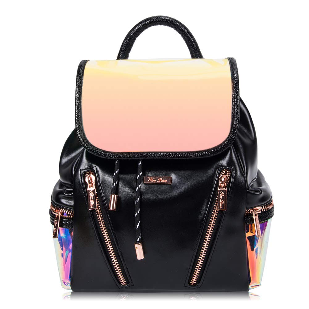 RenDian Women's Mini Cute Fashion Backpack Purse Anti-Theft Luminous Flash Leather Shoulder Bags, for Travel/School/Leisure…
