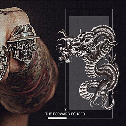 Hot Sale 2017 Rosenice Tatuaje Temporal Brazo Dragón Negro Grande