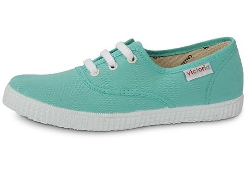 Victoria - Zapatillas de tela para unisex-adulto, color azul, talla 32: Amazon.es: Zapatos y complementos