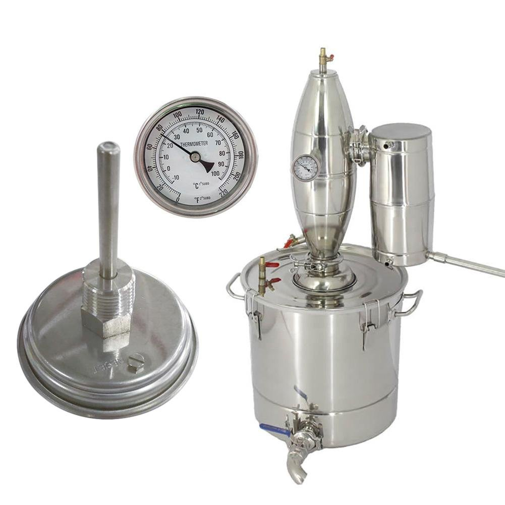 Brew Thermometer,Homebrew Kettle Beer Brewing Thermometer,304 Stainless Steel Homebrew Beer Bi-Metal Thermometer