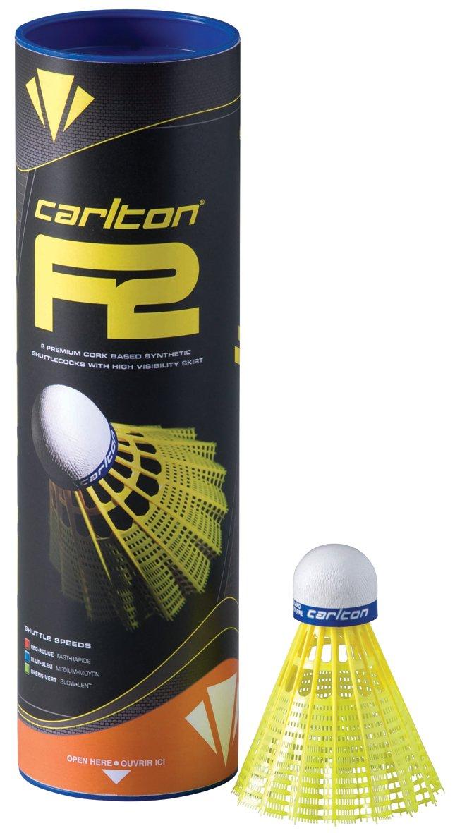 CARLTON F2-Volani Badminton Giallo, 78-Medium-Azzurro