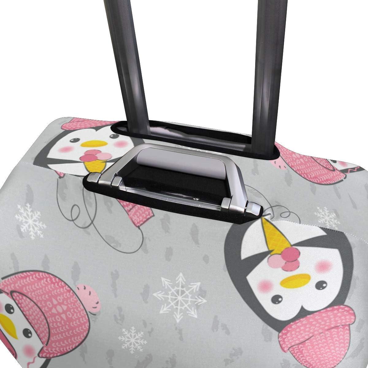 FANTAZIO Cute Penguins Suitcase Protective Cover Luggage Cover