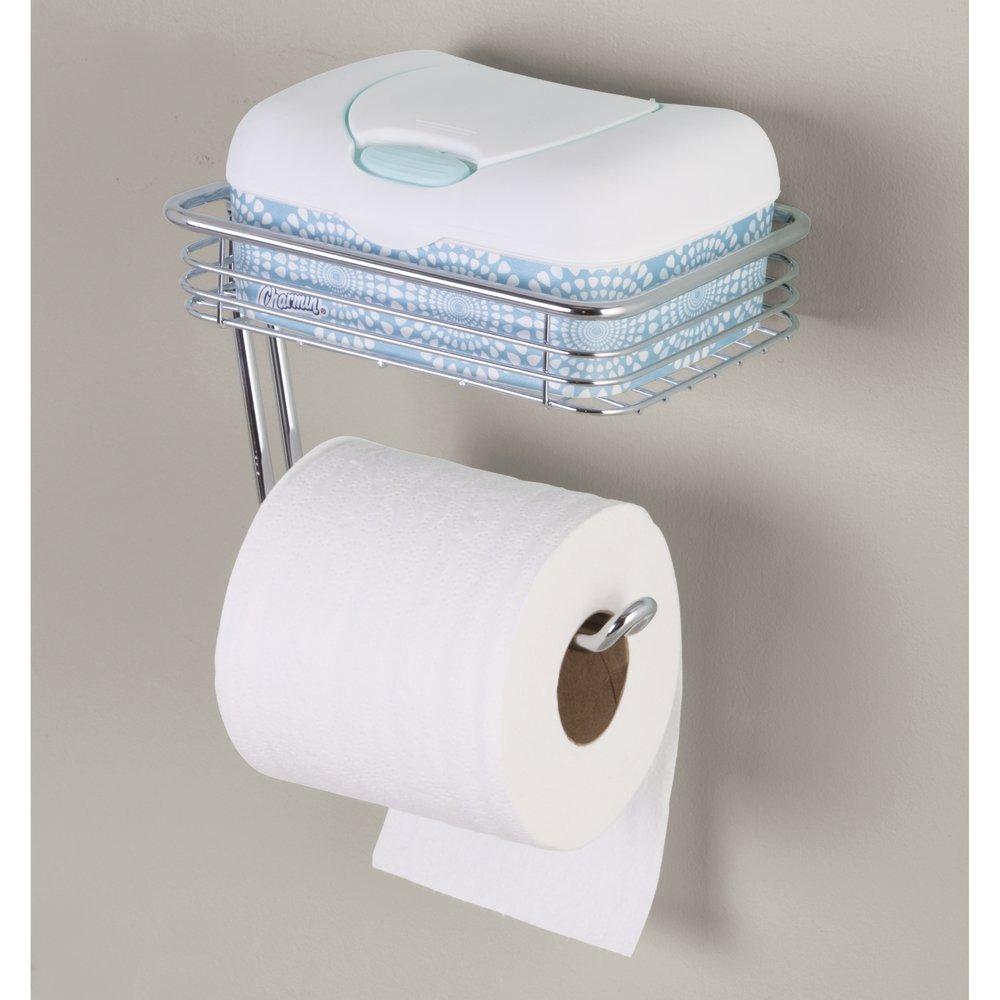InterDesign Classico Toilet Paper Holder with Shelf for Bathroom ...
