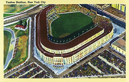 New York, New York - Aerial View of Yankee Stadium (16x24 Fine Art Giclee Gallery Print, Home Wall Decor Artwork Poster) (Aerial View Yankee Stadium)