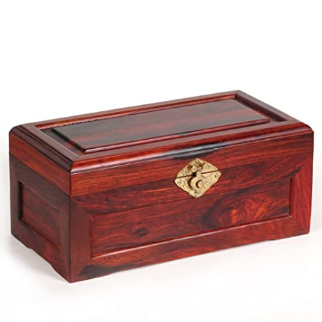 Charmant Antique Mahogany Jewelry Box With Lock/ Chicken Wing Wooden Chinese Style  Storage Box/