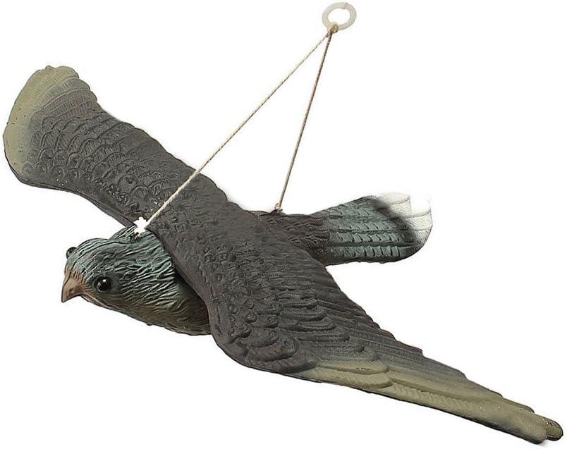 NANAD Señuelo de pájaro Falso, disuasorio de pájaro Volador, decoración de jardín, Hawk Falso, Caza, señuelo, espantapájaros de jardín, Repelente de pájaros y Gatos para Caza al Aire Libre