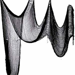 "Benran Halloween Creepy Cloth Party Decor Drape Doorways Entryways Windows Cover Gauze 5 Yards X 30""(Black)"
