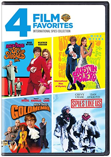 4 Film Favorites: International Spies (Austin Powers in Goldmember, Austin Powers: International Man of Mystery, Austin Powers: The Spy Who Shagged Me, Spies Like Us)