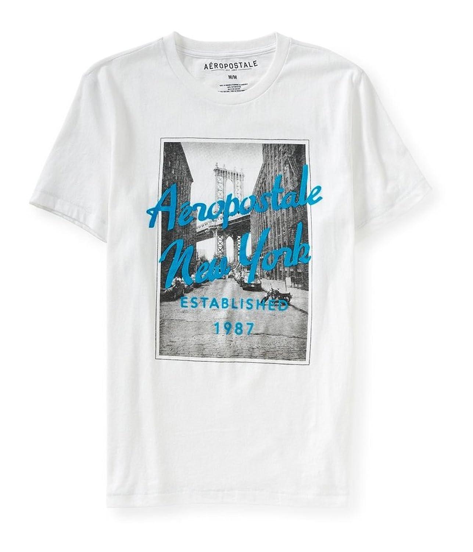 Aeropostale Mens Brooklyn Bridge Graphic T-Shirt