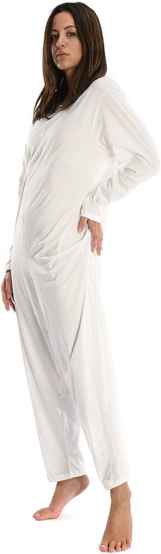 Rekordsan - Pijama Antipañal Geriátrico de Algodón para Mujer, Talla 2, Nata