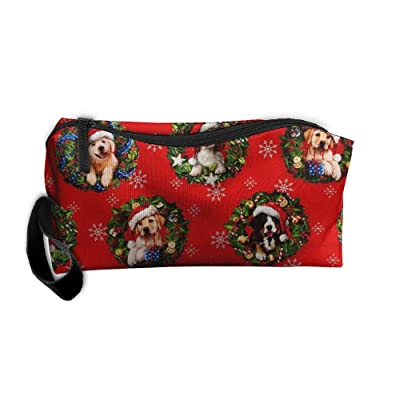 Christmas Pets Dogs Holiday Travel Bag Printed Multifunction Portable Toiletry Bag Cosmetic Makeup Pouch Case Organizer For Travel hot sale 2017