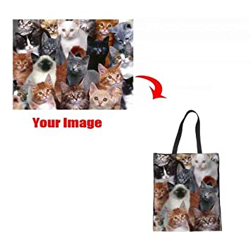 4cb611d8bfe Instantarts Custom Photo Logo Printing Heavy Duty Canvas Tote Bag Can Be  Personalized Women Handbag
