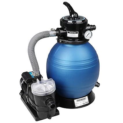 T/ÜV S/ÜD GS Zertifiziert Monzana Filteranlage Poolfilter Filterkessel Sandfilter Sandfilteranlage 9,6 m/³ mit Vorfilter