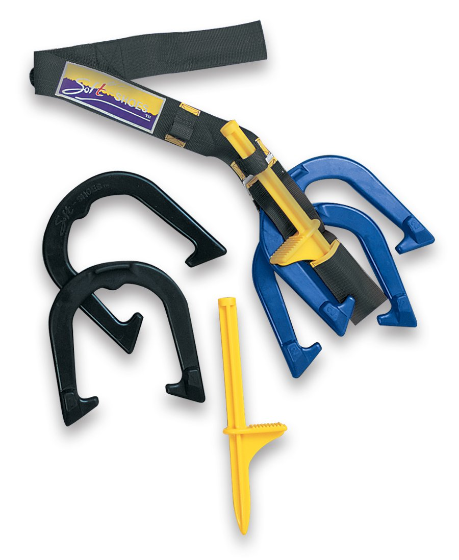 Fun Gripper Horseshoes (Portable) w - 3 Foot Carry Strap 4 - Numbered Rubber Horseshoes and 2 - Step - in -Pegs By: Saturnian I