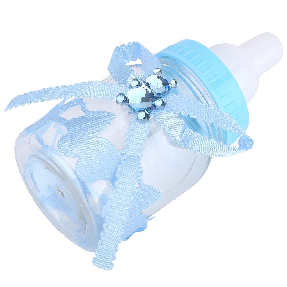 50 Piezas Botella de Caramelo, Caja Biberones Plastico Botellas Caja de Caramelo Set Botella Dulces Caja de Dulces para Fiesta de Baby Shower, 4 × 9 ...