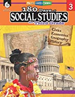 180 Days of Social Studies for Third Grade - Daily Practice Book to Improve 3rd Grade Social Studies Skills - Social Studies Workbook for Kids Ages 7 to 9