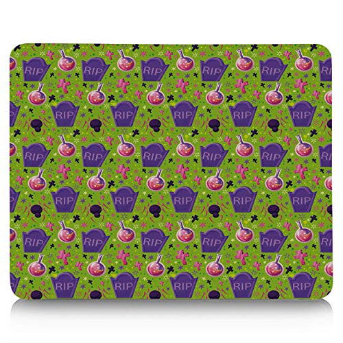 Gaming Mouse Pad, Halloween Witch Magic Potion Spider Tombstone Non-Slip Rubber Base Mousepad Rectangle Mouse Mat for Laptop, Computers, Office & Home ()